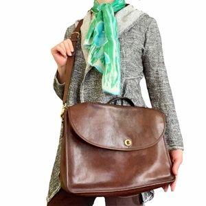 Vintage 1970s Coach Lexington Leather Attache Bag